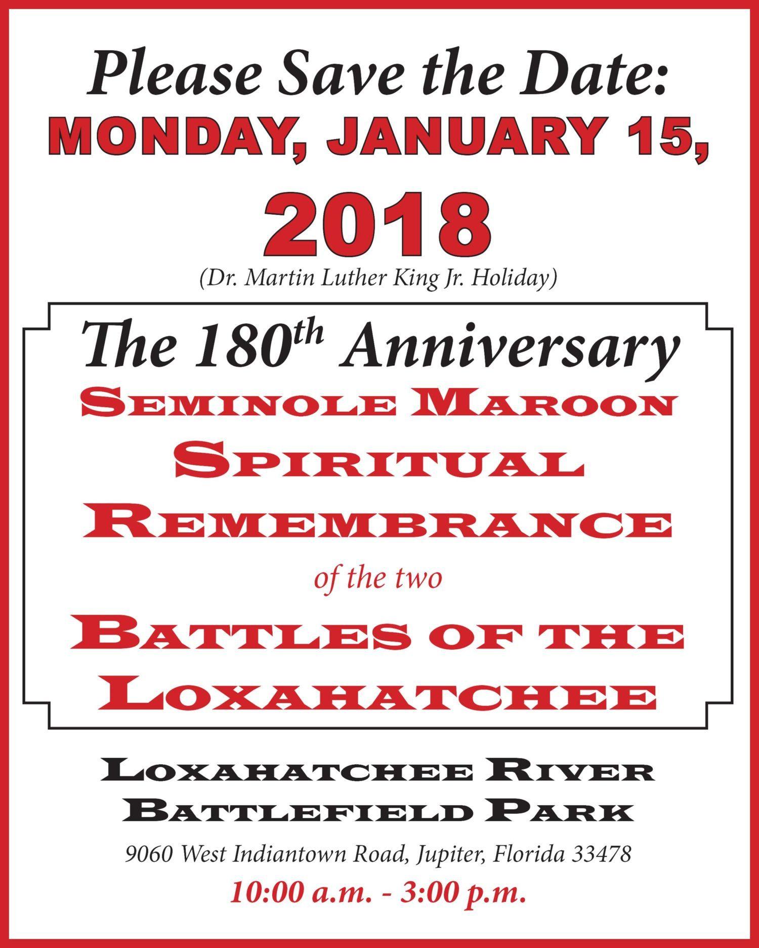 180th Anniversary Seminole Spiritual Remembrance