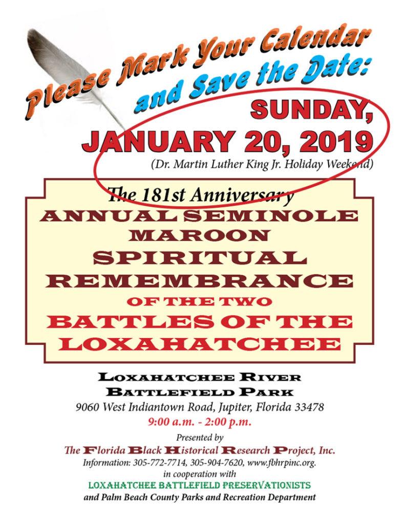 January 20, 2019 Annual Seminole Remembrance