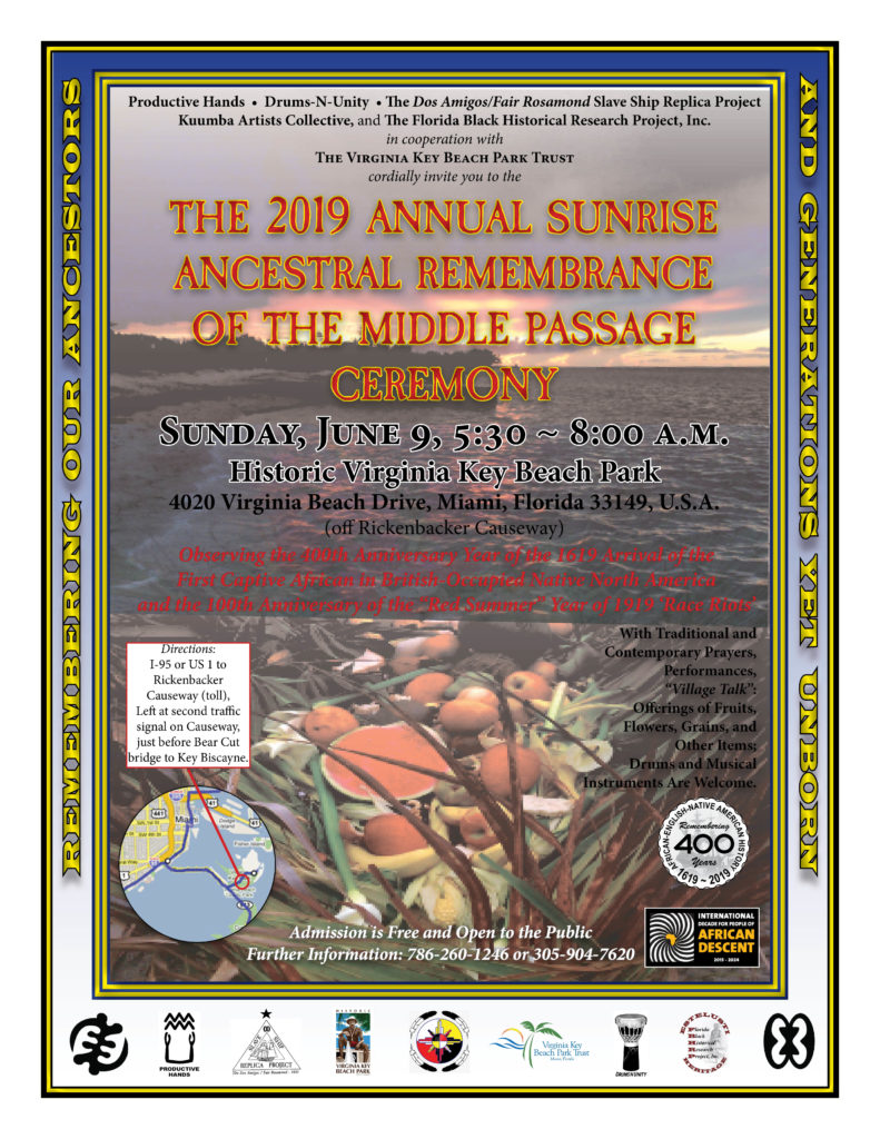 2019 Annual Sunrise Ancestral Remembrance of the Middle Passage Ceremony