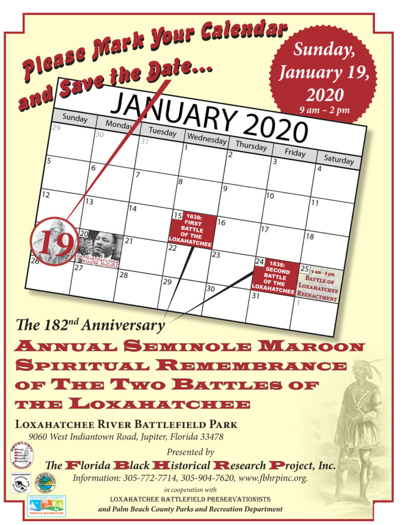 182nd Anniversary Annual Seminole Maroon Spiritual Remembrance